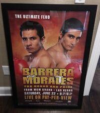 Large Erik Morales Vs Marco Antonia Barrera Framed Boxing Poster 27X40 Man Cave