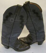 Justin L4412 Womens Cowboy Western Grey & Snakeskin Boot Sz 6B