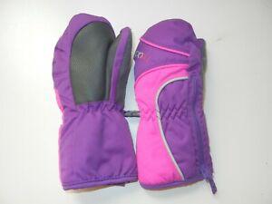 HEAD Purple/Pink Warm WINTER MITTENS Hiking Ski Gloves Kid Sz YOUTH XS Toddler