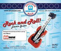 Exclusive Brick Loot Rock N' Roll Electric Guitar set Joe Meno 100% LEGO Bricks