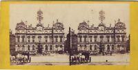 Francia Hotel De Ville Da Lione Stereo Foto Vintage Albumina Ca 1868
