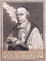 Portrait XVIIIe Henry Marie Boudon Fère Aisne Prêtre Archidiacre d'Evreux