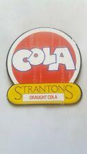COCA COLA ENAMEL PORCELAIN SIGN PUMP ADVERTISING STRANTONS DRAUGHT COLA