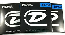 Dunlop Guitar Strings - 3 Pack - Electric - 10-52 - Nickel Plated Steel
