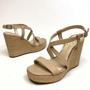 ✅❤️✅$ Jessica Simpson Women Salona Wedge Platform Sandal 10M Eu42 Buckle NWOB