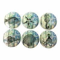 Set of 6 Blue Nautical Cabinet Knobs Drawer Knobs