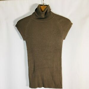 MARC AUREL sweater Womens Size 40 New ribbed turtle neck Silk
