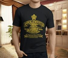 New Royal Enfield Made like Gun Motorcycle Men's Black T-Shirt Size S-3XL