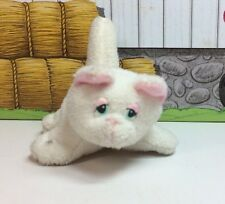 "Galoob Pound Puppies Purries Purry Cat 3"" Tiny Mini Baby Kitten White Pink"