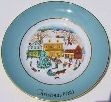Christmas 1980 Avon 8th Plate Country Christmas Enoch Wedgewood England