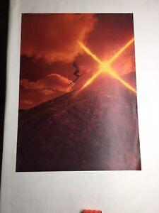 Vintage Original Ski Poster Sunset Freestyle Jump 1960s