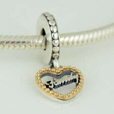 Genuine PANDORA Silver 14k Gold Loving Family Charm - 792011