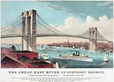 "Currier & Ives: ""Great East River (Brooklyn) Suspension Bridge"" — Fine Art Print"