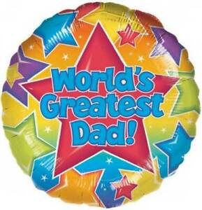 """18""""  Foil Balloon """"World's Greatest Dad!"""" Party Balloons"""