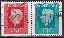 1973 combinatie Kon. Juliana 25 + 35 ct uit PB 13 NVPH C 81 gestempeld