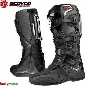 Scoyco Motorbike Boots CE Motocross Off Road Motorcycle Enduro Moto-X Supercross