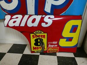 Bill Elliott Nascar Race Used Sheet Metal McDonald's Half Door