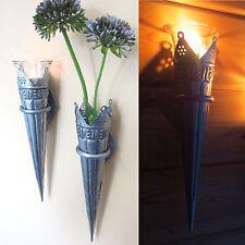 4er Set - Wandkerzenhalter Kerzenhalter Wandleucher Gartenstecker Florence NEU