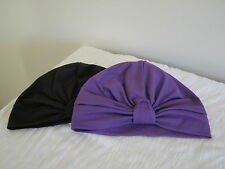 2 PACK CHEMO  CANCER /ALOPECIA COTTON KNIT TURBANS,WRAP, HAT . CAP FOR HAIR LOSS