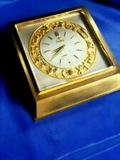 Zodiac - Brass Table Desk  Electromechanical Clock Mid Century WORKS