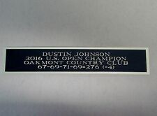 New listing Dustin Johnson 2016 Us Open Champ Nameplate For A Golf Flag Display Case 1.5 X 6