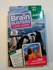 Brain Busters Educational Trivia Card Game GEOGRAPHY Over 150 Trivia Questions