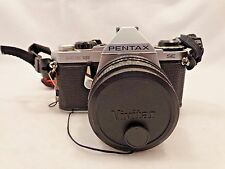Pentax ME Super 35mm SLR Film Camera with 49 mm Vivitar lens  Very Nice