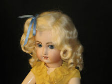 Lettie   Dark Brown mohair wig for antique French/ German doll size 13