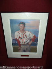 STAN MUSIAL autographed FRAMED 16x20 limited 2 musial auto's #22/1000  RARE!