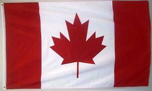 CANADA 3ft x 5ft BANNER/FLAG HIGH QUALITY 100% POLYESTER METAL GROMMETS
