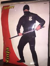 Smiffy's Ninja Black Costume Dress Up Fancy Dress 99805 Size L