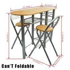 5PCS Modern Folding Dining Set Table and Chairs Home Kitchen Furniture Black/Oak