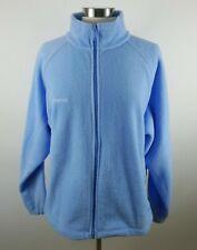 Columbia Womens Warm Fleece LS Full Zip Solid Light Blue Sweater Jacket Plus 1X