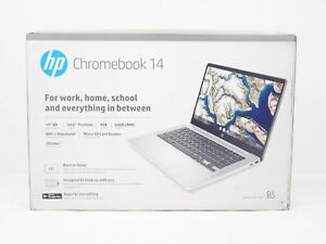 "HP Chromebook 14"" HD Laptop Intel Pentium Silver N5030, 4GB RAM, 64GB eMMC NEW!"