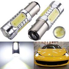 2X 1157 BAY15D 7.5W Xenon White COB LED Tail Brake Stop Light bulbs 7528 2057