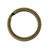 Lot 1 - 3 - 5 - 10 Anneaux Port clé Bronze 20mm Doublé Porte clés Anneaux double