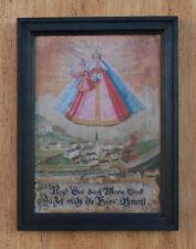 Die Madonna und von Feuersbrunst gefährdetes Dorf Zell Hainzenberg Votivtafel 05