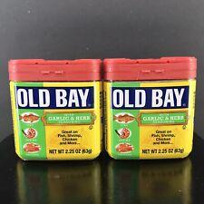 Old Bay Garlic & Herb Seasoning 2.25 oz (2 Pack) Free Shipping!
