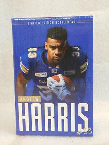 CFL Winnipeg Blue Bombers Andrew Harris Bobblehead Bobble Head 2019 Grey Cup