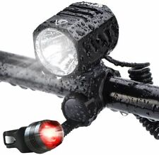 Te Rich USB Rechargeable Bike Lights  1200 Lumens CREE XM L2 Bright LED HeadLigh