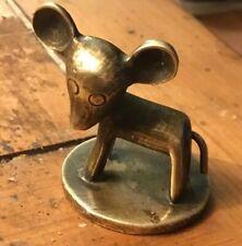 Vintage Wiener Werkstatte Hagenauer Bosse Bronze Brass Elephant Mouse Figurine