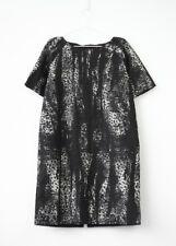 HOF115:COS Kleid etui muster textur / Printed jacquard back zip dress 44 UK 18