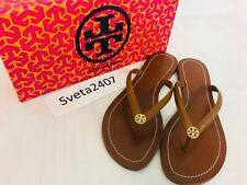 Tory Burch Miller Sand Beige Patent Leather Thong Sandal Size 8