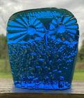 Blenko Glass Owl Figurine Paperweight - Turquoise