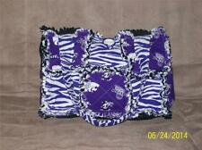 Zebra KSU KSTATE WILDCAT EMAW Purple Rag Quilt Diaper Bag Tote Purse Great Gift