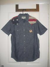 Ralph LAUREN DENIM & SUPPLY Gents'S US Flag manica corta Camicia M Prezzo Consigliato: 85 GBP