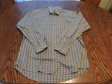 Vintage Orange and blue plaid Gitman Bros shirt size L