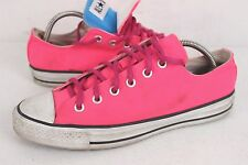Converse All Star CT Hot Pink Double Tongue OX Low Lace Sneakers Shoes Size 10