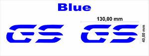 2 X BMW GS Logo Stickers Decal, R 1200 GSA LC 2014-2018 For Side Fuel Tank Cheek