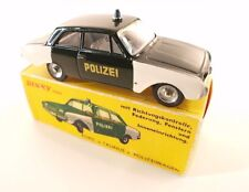 Dinky Toys F n° 551 ford taunus 17M Polizei rare, repeinte en boîte reproduction
